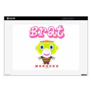 "Brat-Cute Monkey-Morocko 15"" Laptop Decal"