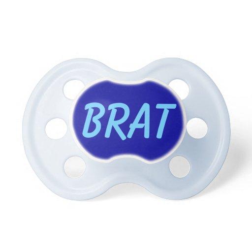 brat funny baby boys blue binkie pacifier dummy zazzle