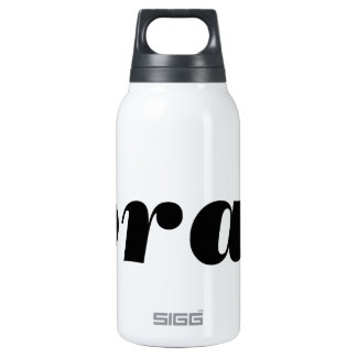 BRAT - Word.... express yourself! Insulated Water Bottle