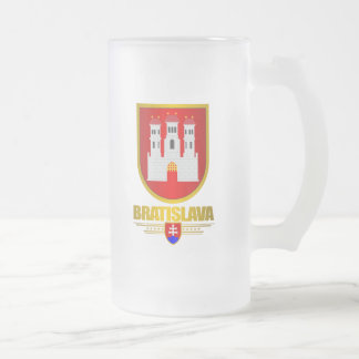 Bratislava 16 Oz Frosted Glass Beer Mug
