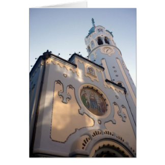 bratislava blue church greeting card