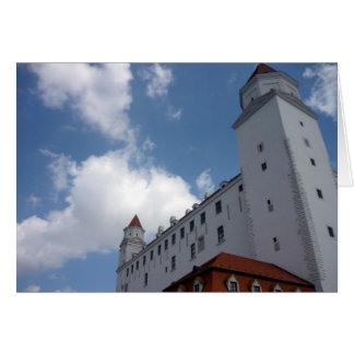 bratislava castle clouds greeting card
