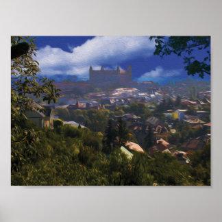 Bratislava Castle in Oil Poster