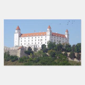 bratislava castle rectangle stickers