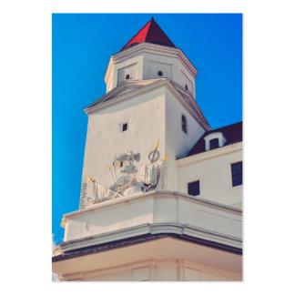 Bratislava castle tower business cards