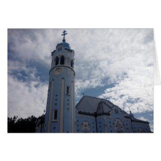 bratislava church blue greeting card