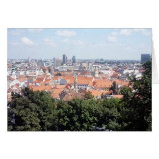 bratislava city view greeting card