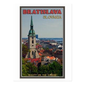 Bratislava Cityscape Postcard
