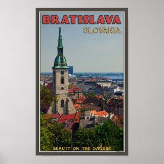 Bratislava Cityscape Poster