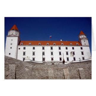 bratislava corner castle greeting card