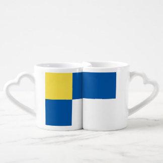 Bratislava Flag Couples' Coffee Mug Set