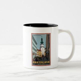 Bratislava - Michael's Tower Two-Tone Coffee Mug