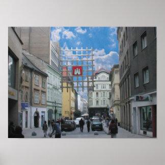 Bratislava Old City Oil Poster