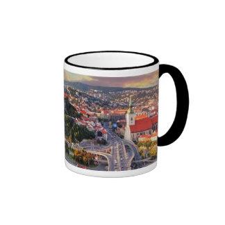 Bratislava, Slovakia Ringer Coffee Mug