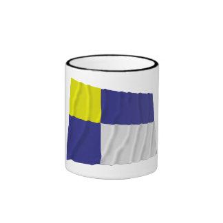 Bratislava Waving Flag Ringer Coffee Mug
