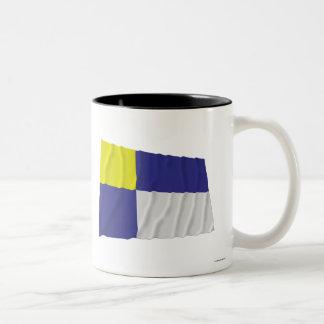 Bratislava Waving Flag Two-Tone Coffee Mug