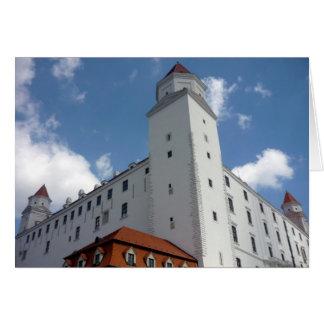 bratislava white castle greeting card