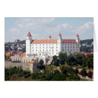 bratislava white castle view greeting card