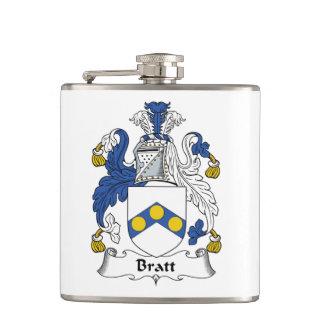 Bratt Family Crest Hip Flasks
