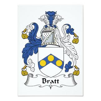 Bratt Family Crest Personalized Invitations