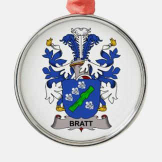 Bratt Family Crest Christmas Tree Ornaments