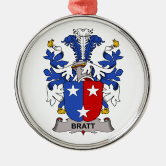 Bratt Family Crest Christmas Tree Ornament