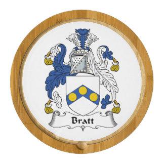 Bratt Family Crest Round Cheeseboard