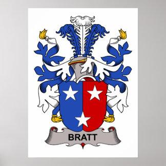 Bratt Family Crest Poster