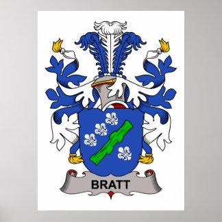 Bratt Family Crest Posters