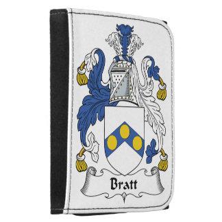 Bratt Family Crest Leather Tri-fold Wallet