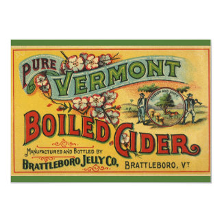 """Brattleboro Jelly Boiled Cider from Vermont 5"""" X 7"""" Invitation Card"""