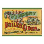 Brattleboro Jelly Boiled Cider from Vermont 5x7 Paper Invitation Card