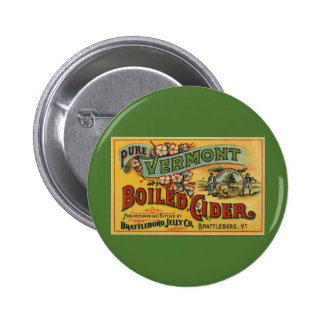 Brattleboro Jelly Boiled Cider from Vermont Pinback Button