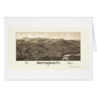 Brattleboro, VT Panoramic Map - 1886 Cards