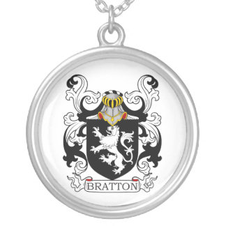 Bratton Family Crest Round Pendant Necklace