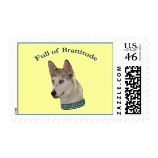 Bratty Ausky Dog Brattitude Stamp
