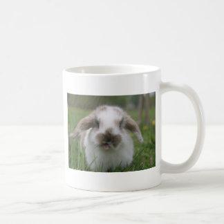 Bratty bunny classic white coffee mug