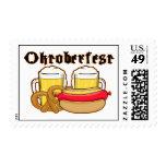 Bratwurst y cerveza de Oktoberfest