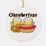 Bratwurst y cerveza de Oktoberfest Ornamente De Reyes