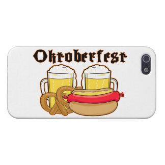 Bratwurst y cerveza de Oktoberfest iPhone 5 Carcasas
