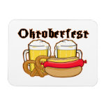 Bratwurst y cerveza de Oktoberfest Imán De Vinilo