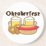 Bratwurst y cerveza de Oktoberfest Posavasos Manualidades