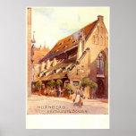 Bratwurstglöcklein, vintage 1910 de Nürnberg Alema Impresiones