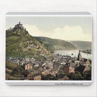 Braubach and Marksburg, the Rhine, Germany rare Ph Mouse Pad