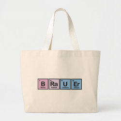 Jumbo Tote Bag with Brauer design