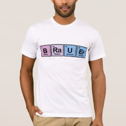 Men's Basic American Apparel T-Shirt with Brauer design
