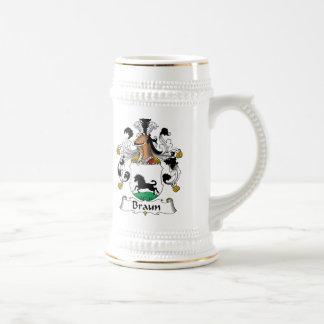 Braun Family Crest Beer Stein