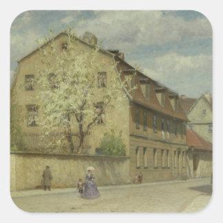 Braune Weimar Square Sticker