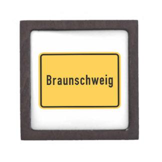 Braunschweig, Germany Road Sign Gift Box
