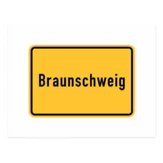 Braunschweig, Germany Road Sign Postcard